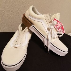 Vans off white suede and canvas size 6.5 men 8 wm